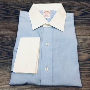 Brooks Brothers Blue French Cuff Shirt 15.5-34